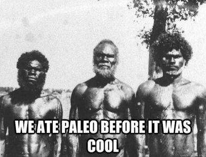 Wij aten paleo voordat het zgn. cool was - foto van drie gespierde Aborginals