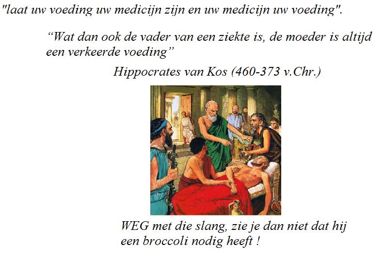 laat uw voeding uw medicijn zijn en uw medicijn uw voeding - Hippocrates van Kos